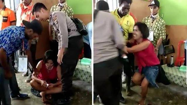 Pengen Ikut Nyoblos, Wanita Gangguan Jiwa Ini Gak Mau Pulang dari TPS