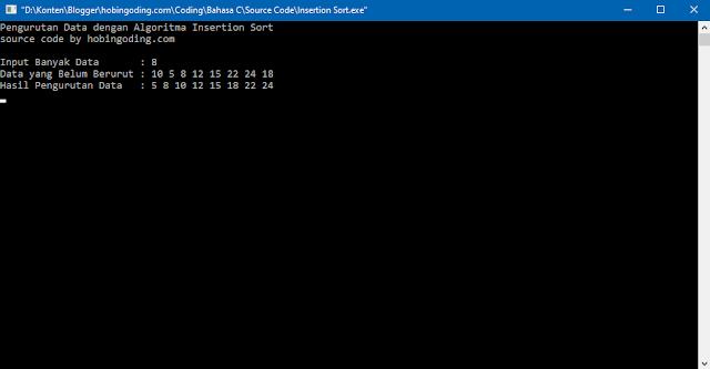 Algoritma Insertion Sort Bahasa C
