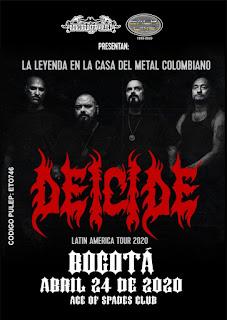 Concierto de DEICIDE en Bogotá