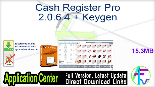 Cash Register Pro 2.0.6.4 + Keygen
