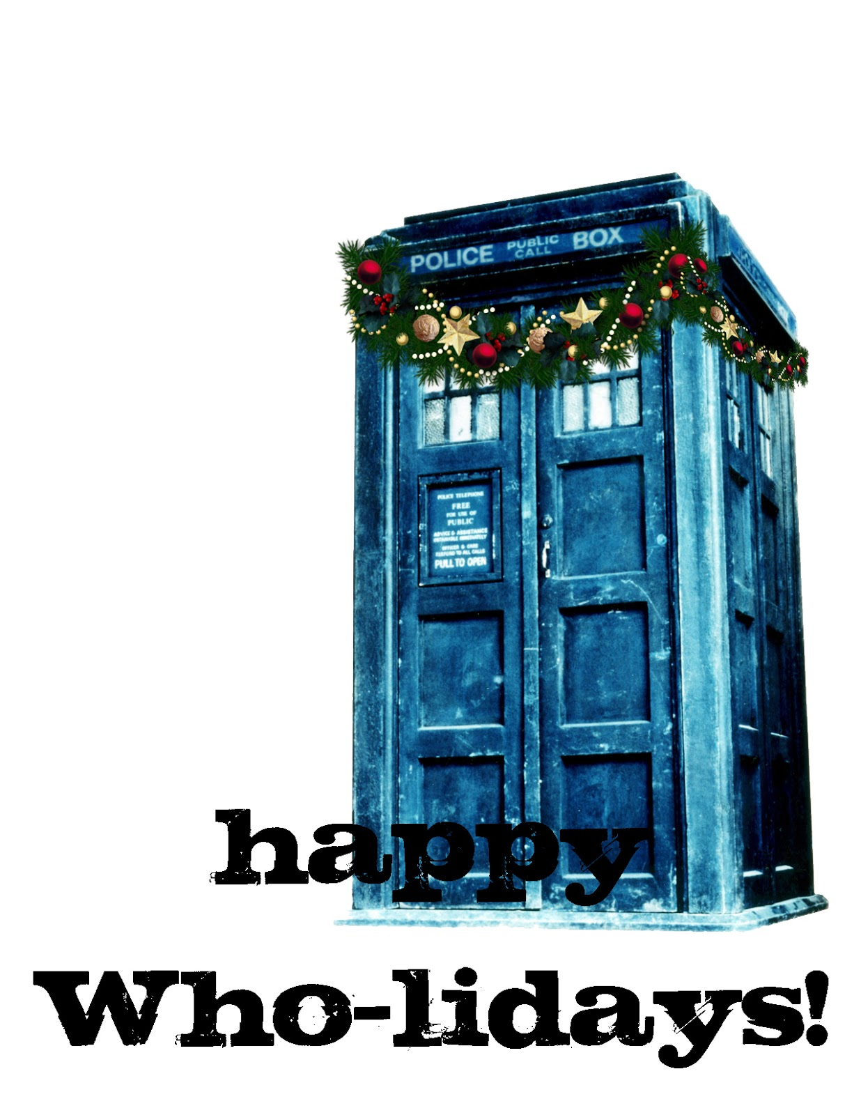 Doodlecraft: Doctor Who Inspired Christmas Card Freebies!