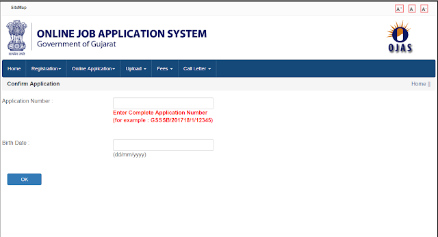 OJAS Online Application