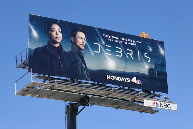 Debris series premiere billboard