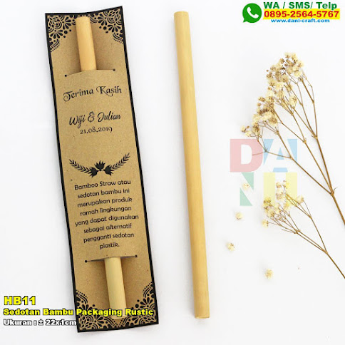 Sedotan Bambu Packaging Rustic
