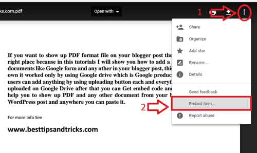 How To Embed PDF & other Documents Google Drive to Blogger Posts