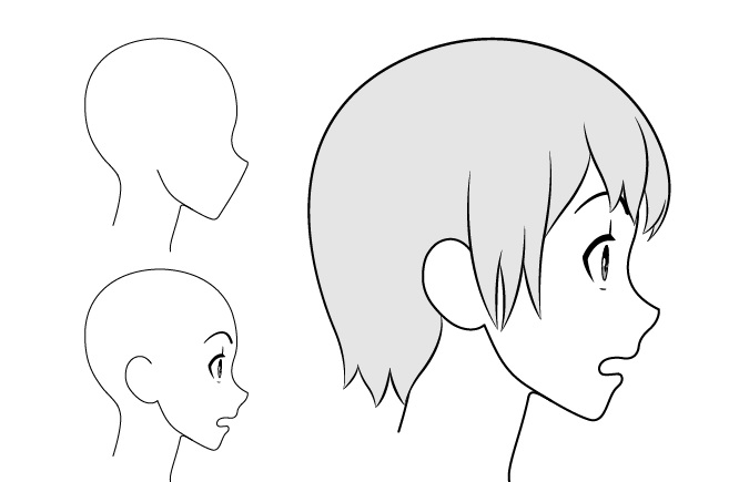 Gadis anime takut gambar pemandangan samping