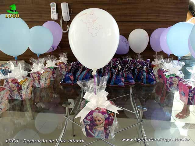 Decoração de aniversário Frozen - Enfeites de centro de mesas dos convidados