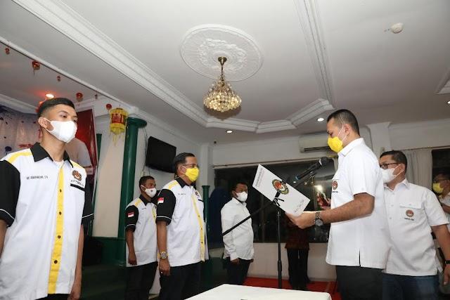 Musa Rajekshah Lantik Pengurus Taekwondo Indonesia Sibolga