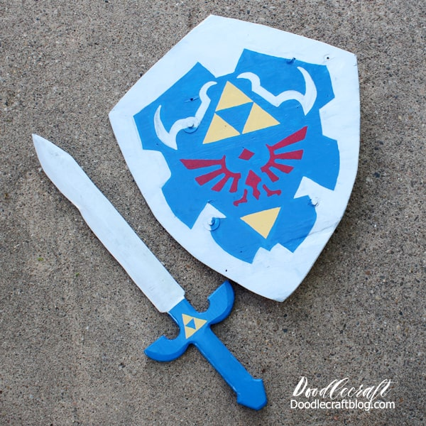 Make a Legend of Zelda Link's Master sword and shield for the perfect cosplay or costume!