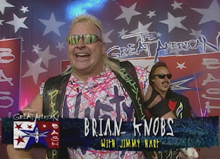 WCW Great American Bash 1999 - Brian Knobs (w/ Jimmy Hart) faced Hardcore Hak