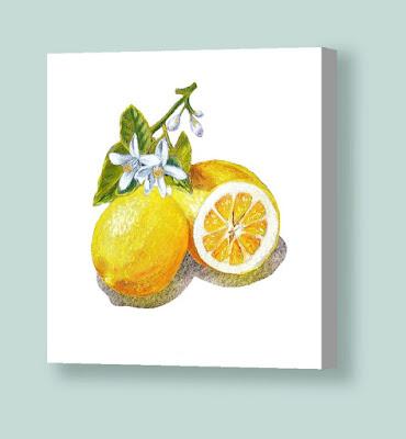 Bestselling painting of lemon watercolor by the artist Irina Sztukowski
