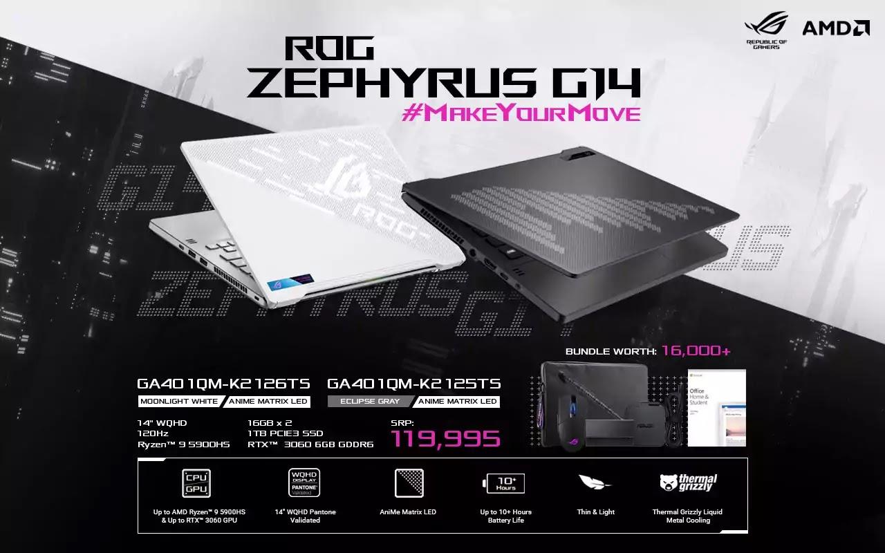 ROG Zephyrus G14 GA401QM Now Available