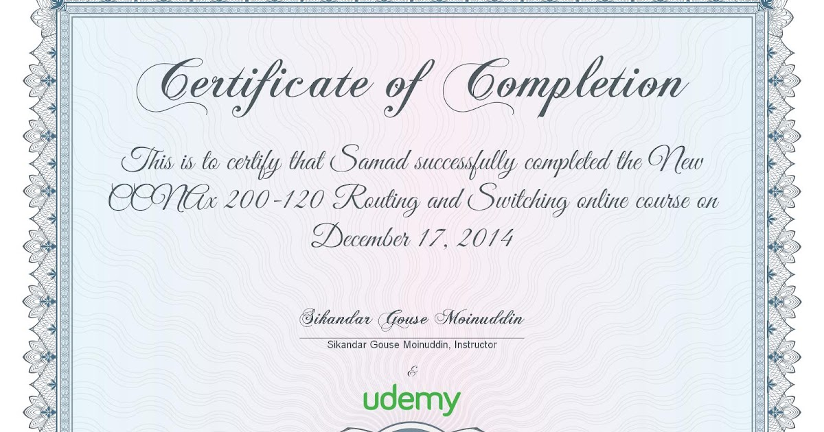 Mohammed Abdul Samad Udemy Certificate Ccnax