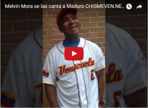 Melvin Mora se las canta a Nicolás Maduro en este video