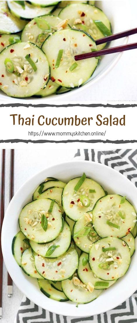 Thai Cucumber Salad #vegan #recipevegetarian