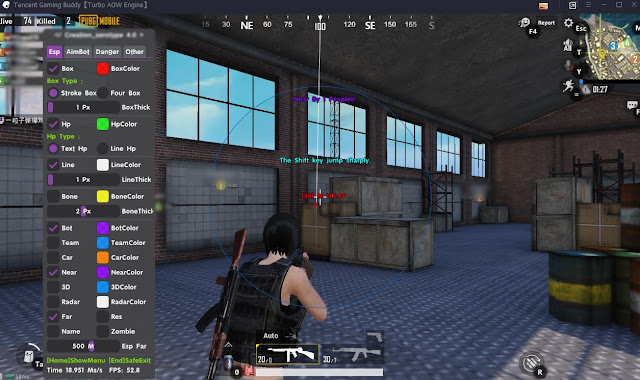 7 April 2019 - Ata 7.0 (V9 English!) ENGLISH NEW! PUBG MOBILE Tencent Gaming Buddy Aimbot Legit, Wallhack, No Recoil, ESP
