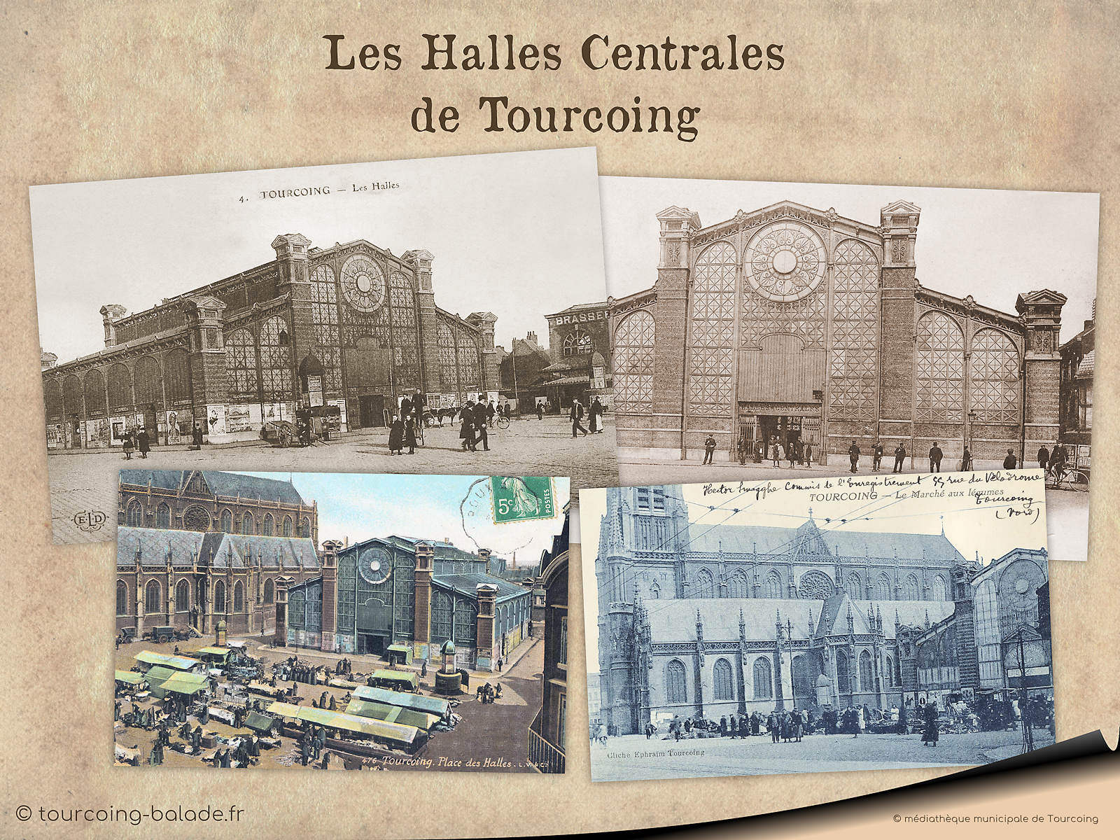 CPA Halles de Tourcoing