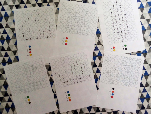 kodowanie dla dzieci przy użyciu plasteliny, zakodowane obrazki z plasteliny, karty pracy do zabaw plasteliną