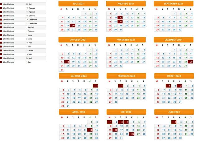 Download Kalender Pendidikan 2021/2022 Provinsi Jawa Timur