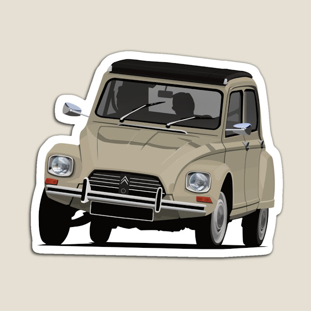 Citroën Dyane classic car - stickers and magnets