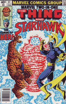 Marvel Two-In-One #61, the Thing and Starhawk, Her