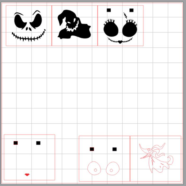 Silhouette Cutting mat layout