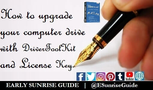 ESG - Upgrade your computer drive with DriverToolKit + License Key