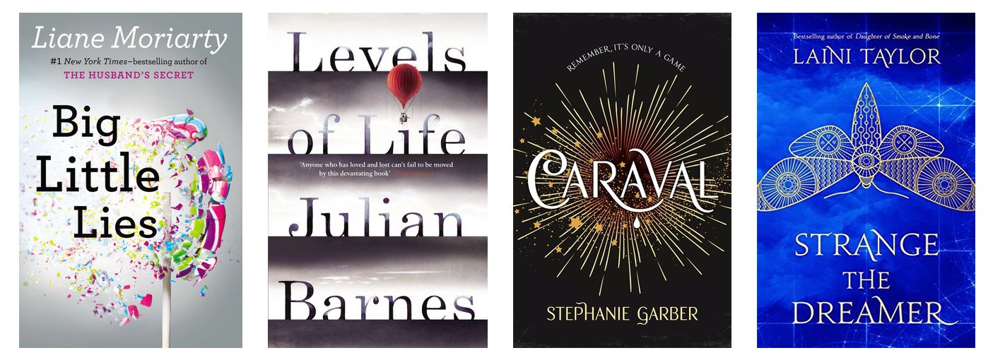 Goodreads: My May To Read List | Hollie In Wanderlust. Featuring Big Little Lies, Levels of Life, Caraval and Strange the Dreamer.