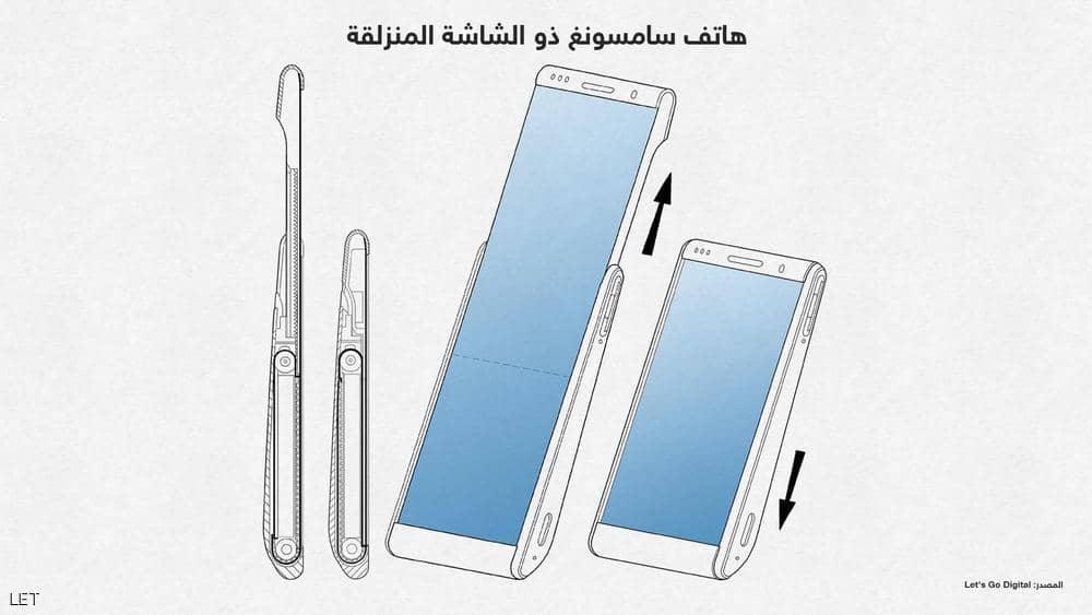 سامسونج تقدم براءة اختراع لتصميم هاتف جديد