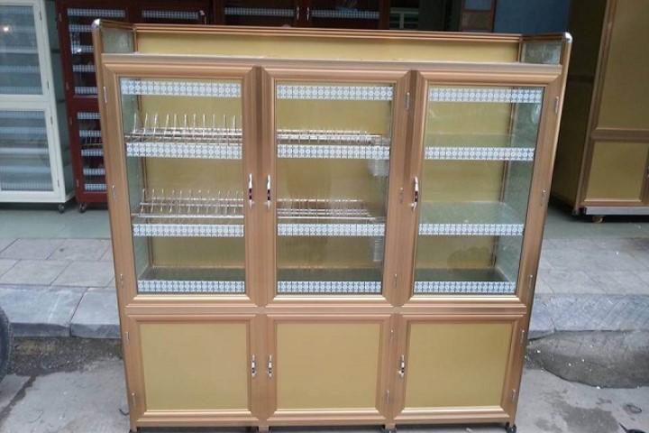 Tủ chén từ vật liệu nhôm kính bí quyết bảo quản tủ quần áo nhôm kính