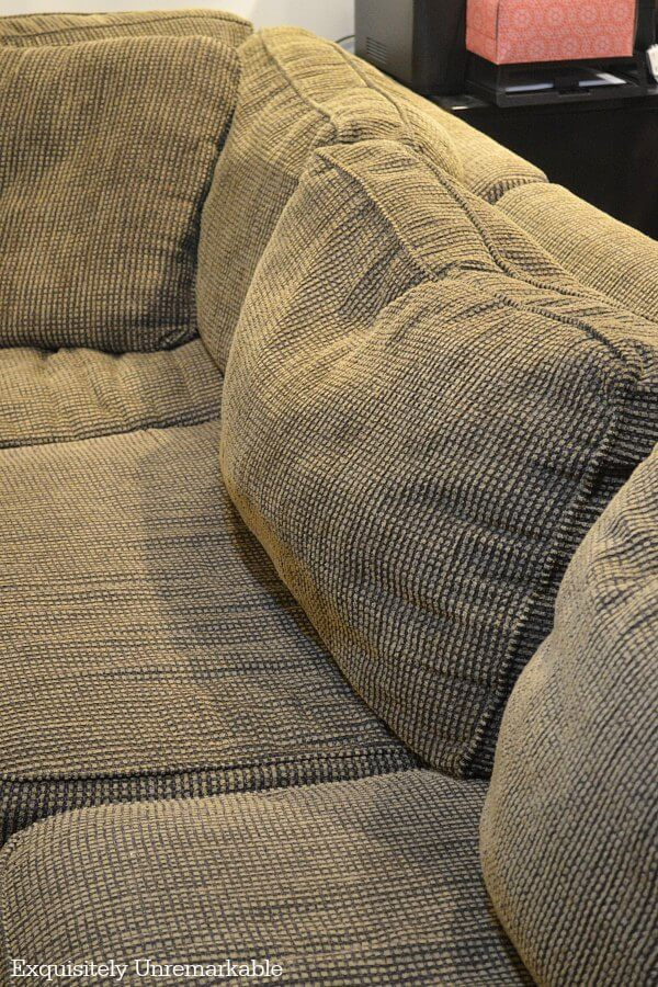 Dirty Matted Sofa Cushions