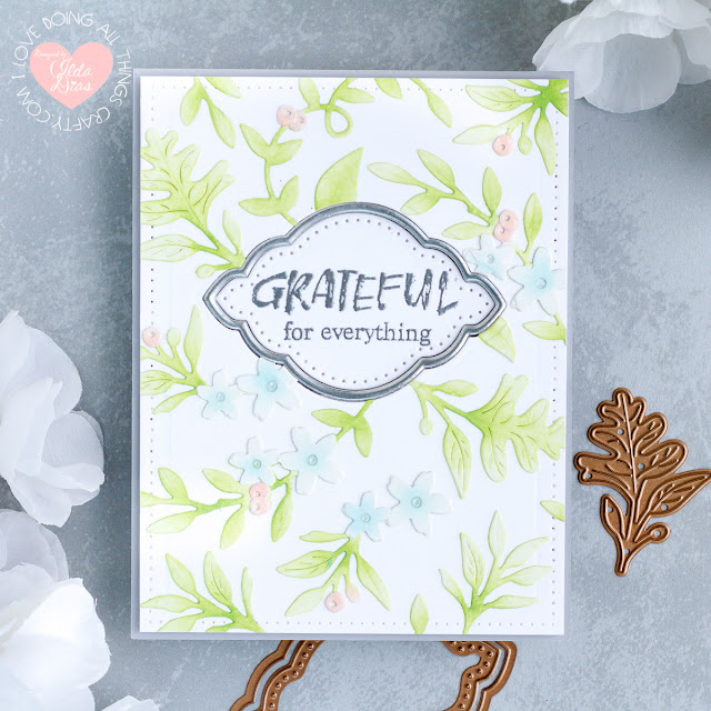 Spellbinders October 2019 Large Die of the Month - Fall Flora Cards by ilovedoingallthingscrafty.com