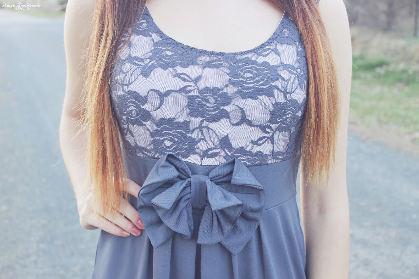 ❀ Dress with bow.