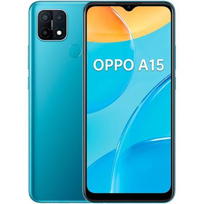 Oppo A15 azul