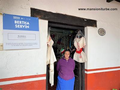 Tienda de Bertha Servín Barriga en la Casa de los Once Patios en Pátzcuaro