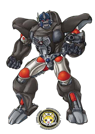 render Optimus Primal (BW)