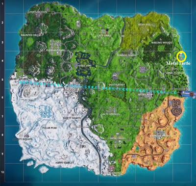 Fortnite BR, Metal Turtle Location, Map