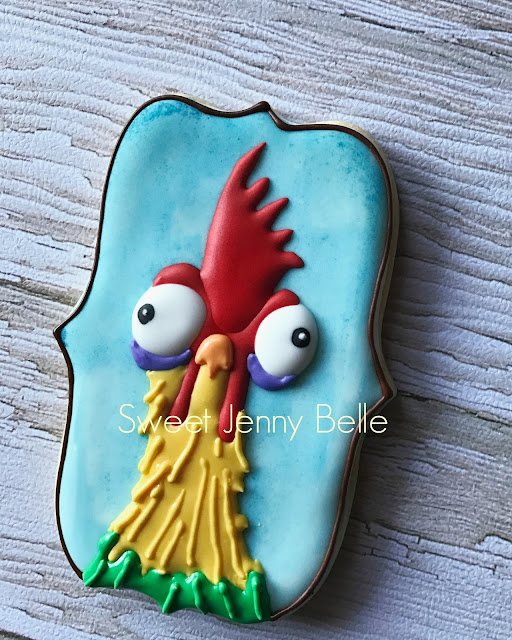 Disney's Moana Hei Hei decorated cookies