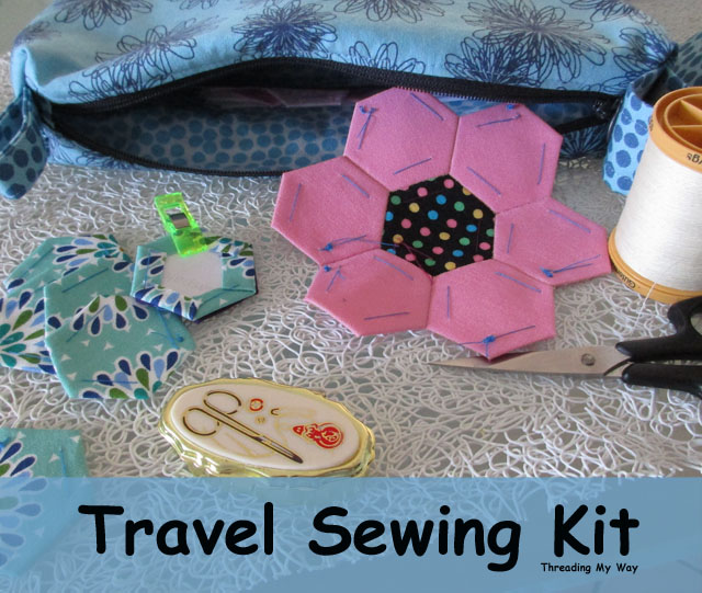 Keep a sewing kit on hand, ready to grab when you travel ~ Threading My Way