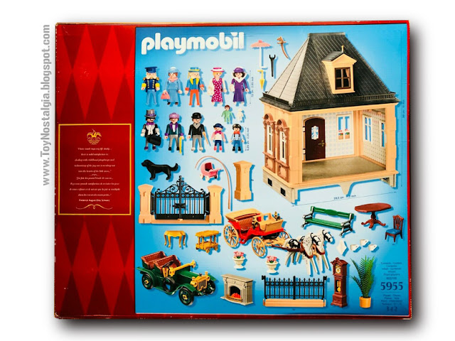 Playmobil 5955. Casa Victoriana F.A.O. Schwarz  150 aniversario (2012) back bx