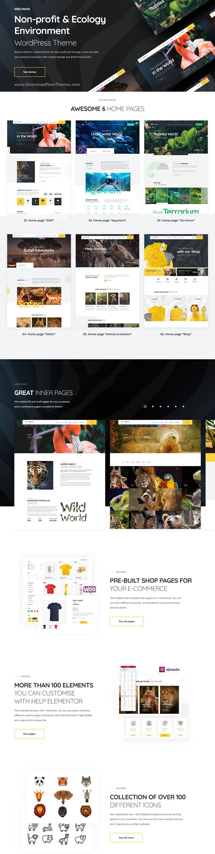 Nonprofit and Ecology WordPress Theme