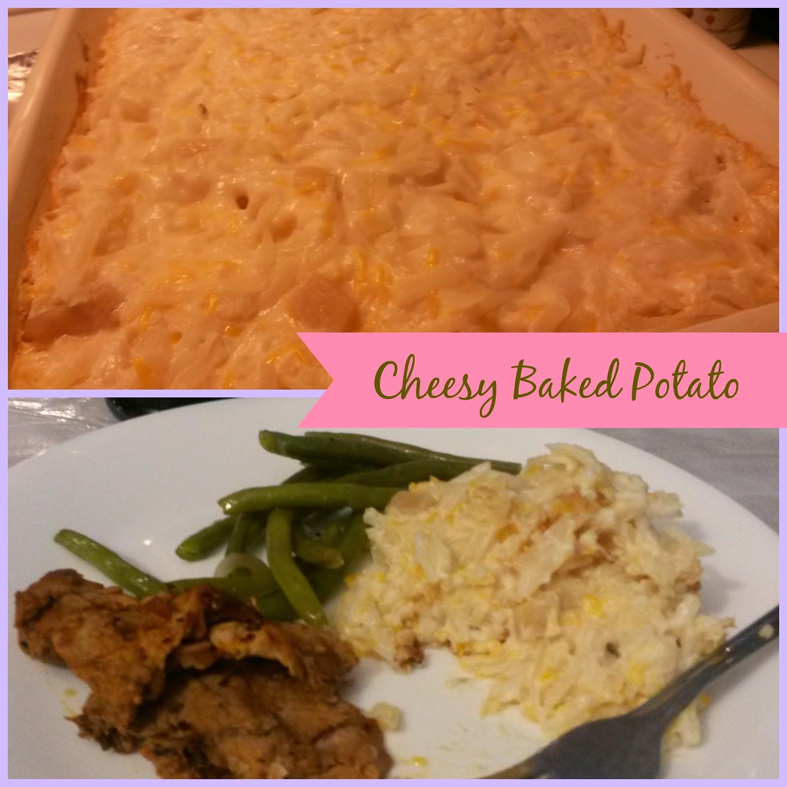Cheesy Potato Bake Recipe: The Sweet Cuisinera: Cheesy Baked Potato Recipe