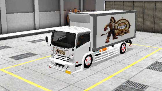 livery mod truck isuzu nmr71 box bussid paddle pop