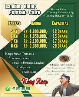 Harga Kambing Guling Kang Asep di Lembang Bandung, harga kambing guling kang asep, kambing guling kang asep, kambing guling, kambing guling lembang,