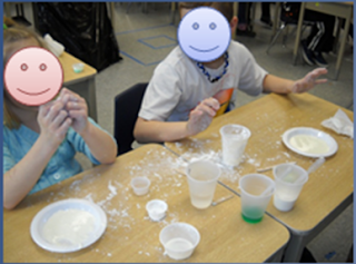 Making Slime: When studying States of Matter with my second graders, we made two different kinds of slime. This blog post contains the recipes for both!