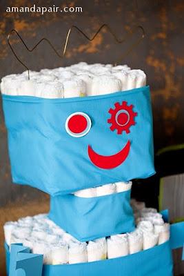 decoration de table de bapteme theme robotique