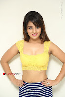 Cute Telugu Actress Shunaya Solanki High Definition Spicy Pos in Yellow Top and Skirt  0035.JPG