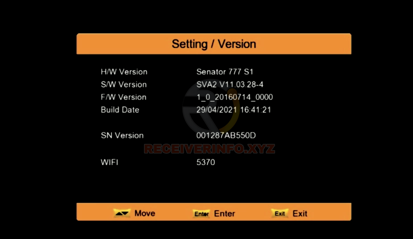 SENATOR 777 S1 1506TV NEW SOFTWARE 2021 SVA2 V11.03.28 UPDATE