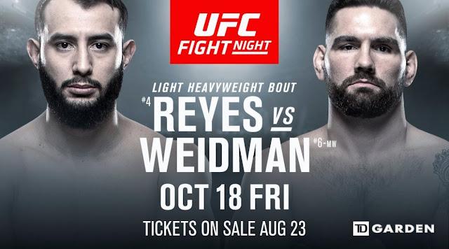 Dominick Reyes Vs Chris Weidman