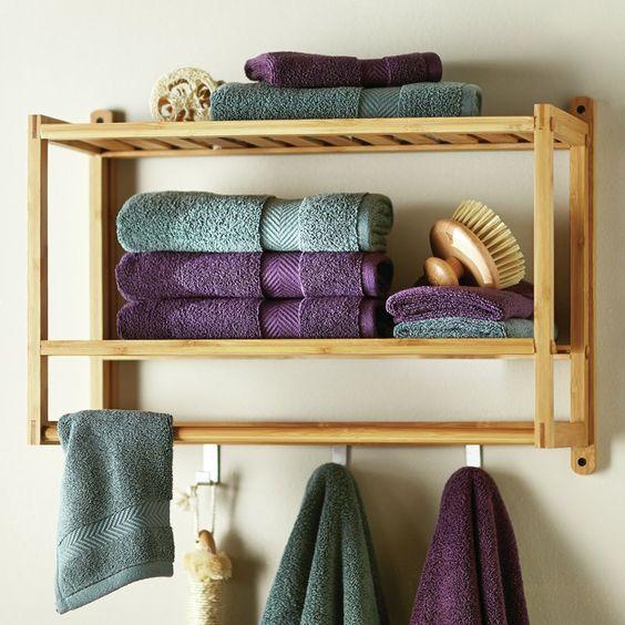 17 Ideas de almacenamiento de toallas de baño